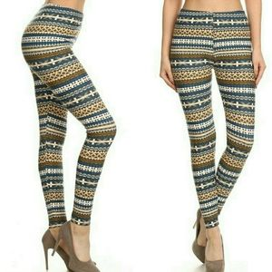 Pants - Border print leggings